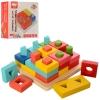 Деревянная игрушка Геометрика MD 2345 (24шт) геом.фигуры, в кор-ке, 16-16-7см рис. 1