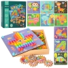 Деревянная игрушка Мозаика MD 2417 (9шт) картинки, шестеренки, в кор-ке, 25-25,5-6см рис. 1