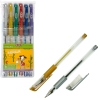 Набір з 6-ти гелевих ручок METALLIC, 6 кольорів рис. 1