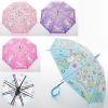 Зонтик детский MK 3873-2 (60шт) единорог,длина67см,трость61см,диам83см,спиц48см,клеенка,свисток,4цв рис. 1