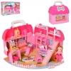Домик QL045 мебель, кукла, фигурки 8 шт.,склад. в сумочку, в кор., 51-34-15,5 см.