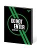 """Щоденник шкільний YES PU інтегральний """"Do not enter"""" друк, фольга зелена рис. 1"""