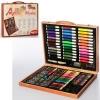 Набор для творчества MK 2455-1 (10шт) 150деталей,каранд,акв.краски,фломаст,ножн,в чемодане,38-31-5см рис. 1