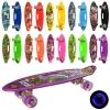 Скейт MS 0461-2 (10шт) пенни, 59-16см, алюм.подвеска, колесаПУ,свет, антискольз, 10вид, в кульке рис. 1