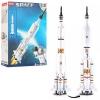 Конструктор SLUBAN M38-B0735 (32шт) космическая ракета, фигурка, 167дет, в кор-ке, 24-33-5,5см рис. 1
