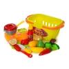 Продукты 1257 (36шт) овощи/фрукты на липучке,посуда, плита, 17предм, в корзине, в кульке, 30-13-17см рис. 1