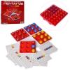 Настольная игра 0131R (33шт) Пентаго, инр.поле, карточки, шарики, в кор-ке, 18-17-3см рис. 1