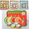Посуда S092LNRW (24шт) чайный сервиз на 4 персоны,металл, 4 вида, в кор-ке, 29-29-9см рис. 1