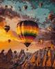 Картина по номерам - Воздушные шары Каппадокии (10503-АС)