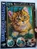 Алмазная живопись по номерам DIAMOND MOSAIC Котёнок