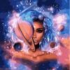 Картина за номерами - Володарка всесвіту з фарбами металік (КНО9538)