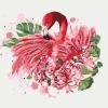 Картины по номерам - Грациозный фламинго 40*40 см (КНО4042)