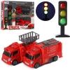Набір машинок 068-131 мет., пожежні,2шт., світлофор,