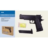 Пистолет метал ZM26 (36шт) пульки в кор.22*15,5*4,5см рис. 1