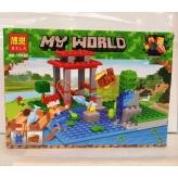 Конструктор Minecraft Майнкрафт Рыбалка 10950, 123 дет.