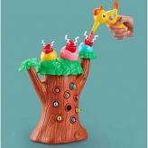 """Игра """"Накорми птенца"""" 228K47 (18шт/2) птичка кормит птенцов, магнитные червячки,музыкальная, в коробке23*14,5*29см"""