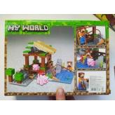 Конструктор Minecraft Ферма со свинками ( 10948)