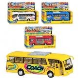 """Машинка KS 7101 W (12шт) металл, автобус, 7"""", откр.двери, 4 цвета, в кор-ке (Китай) - Детские Товары Оптом по Украине Белес рис. 0"""