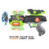 Пістолет SPACE з проектором, зі світлом і звуком, працює від батарей - фото 2
