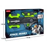 Пістолет SPACE з проектором, зі світлом і звуком, працює від батарей - фото 3