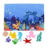"""*Развивающая игра из фетра """"Морские обитатели"""" - фото 3"""