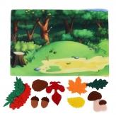 "*Развивающая игра из фетра ""Осенний лес"" - фото 3"