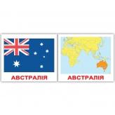 """Карточка Австралия из набора мини-карточек Домана """"Страны"""""""