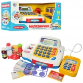 Кассовый аппарат 7020 UA (12шт) калькулятор,зв(укр),свет,продукты,на бат-ке,в кор-ке,38-18-18см рис. 1