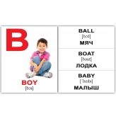 Карточки Домана мини Алфавит на английском купить Киев Украина