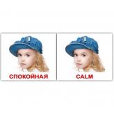 Комплект карточек Домана «Эмоции/Emotions» МИНИ 40 спокойная