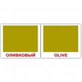 Карточки домана-мини Цвета/Colors Оливковый