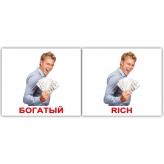 Комплект карточек домана Прилагательные богатый
