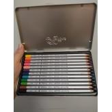 """Олівці 12 кольорів шестигранні в металевому пеналі,Raffine,7100-12TN,ТМ""""Marco"""" рис. 1"""