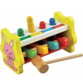 Деревянная игрушка Стучалка MD 0326 (64шт) молоточек, 2 вида, в кор-ке, 18-11-11см
