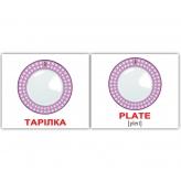 Карточки Домана Посуда / Kitchenware Тарелка